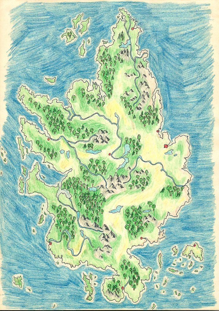 Map of an Unnamed Country by Neiram.deviantart.com