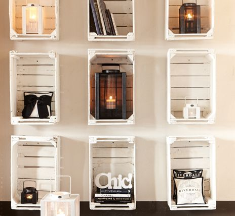 White painted Crates With Accessories | Riverdale