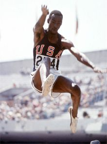 Long jumper Bob Beamon (USA) during the 1968 Mexico City Olympic Games leapt into immortality with an astounding jump of 8,90m