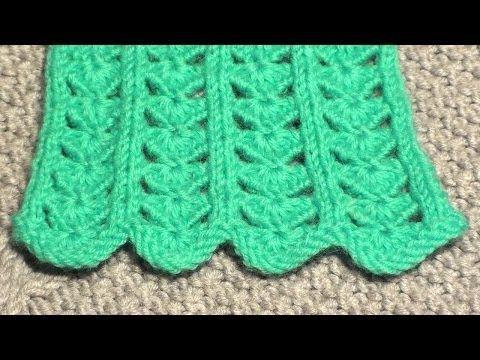 Переплетенный узор c вытянутыми петлями. Вязание спицами. Уроки для начинающих - YouTube