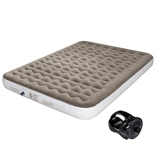 "Etekcity Camping Air Mattress Inflatable Single High Airbed Blow up Bed Tent Mattress with Rechargeable Air Pump, Height 9"", Queen Size - SpecificationsDimensions: 80 x 60 x 9 inMax. Weight Capacity: 650 lbRated Power: 130 WPackage Content 1 x Queen Size Air Mattress1 x Carry Bag1 x User manual"