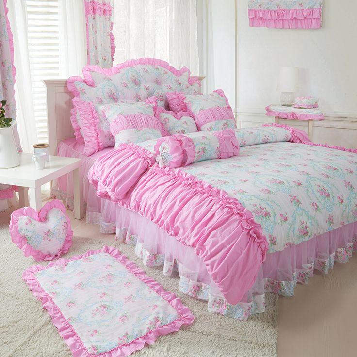 Купить товарХлопок корейский прекрасный одеяла постельные принадлежности твин, Розовые принцессы постели 3 шт., Фиолетовый синий красочный покрывало, Housse де couette в категории Постельное бельёна AliExpress.        Описание продукта                      -Название продукта:                      Хлопок корейский Прекрасный Утеши