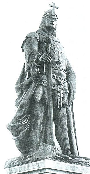 Image:: Memorial to Albrecht der Bär in Ballenstedt || Albrecht der Bar (Albert The Bear), 1100-1170, was a Prince from the House of Ascania (1036-1918) distributed at the territories of modern Russia, Ukraine, Germany, Kazakhstan and Baltic countries. He led campaigns against the Slavic Wends, whose subjugation to Christianity was the aim of the Wendish Crusade of 1147 in which Albert took part. Catherine II the Great, Empress of Russia was the seed of Albert The Bear.