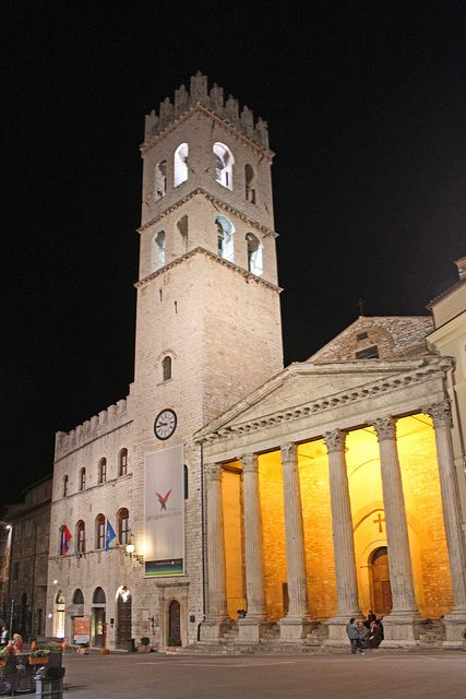 Temple of Minerva in Assisi Town Square ~ Umbria, Italy