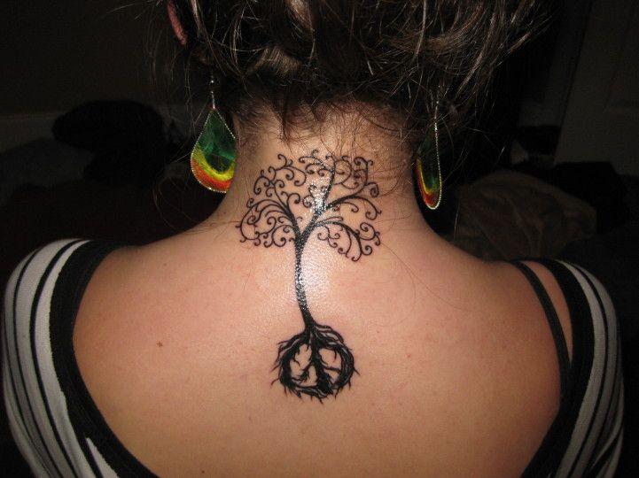 Peace Tree Tattoo