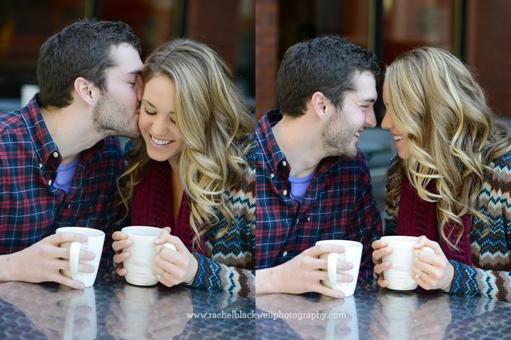 Coffee date engagement session!
