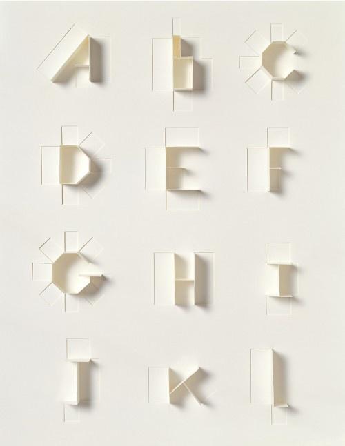 tactilePaper Alphabet, Types Design, Paper Sculpture, Paper Artworks, Sonya Dyakova, Letters Art, Cut Paper, Typography Art, Design Blog