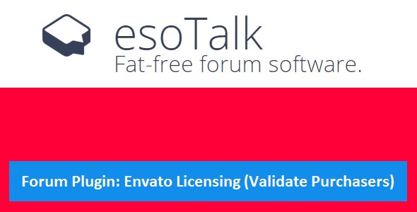 esoTalk – ENVATO plugin – Protect your forum from users without a (specified) purchased...
