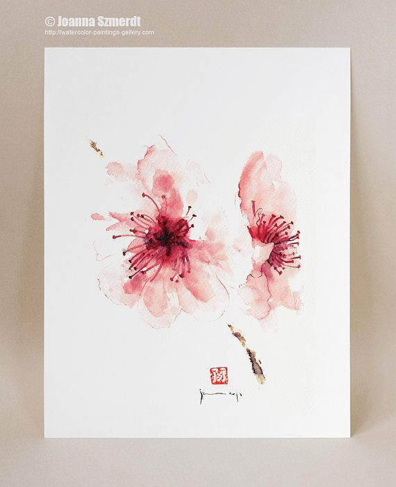 cherry-blossom-wall-decor-unique-floral Etsy Clip Art