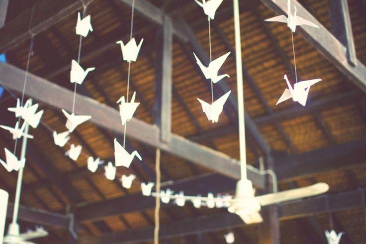 Guirlandes d'Origami #DIY #mariage #deco