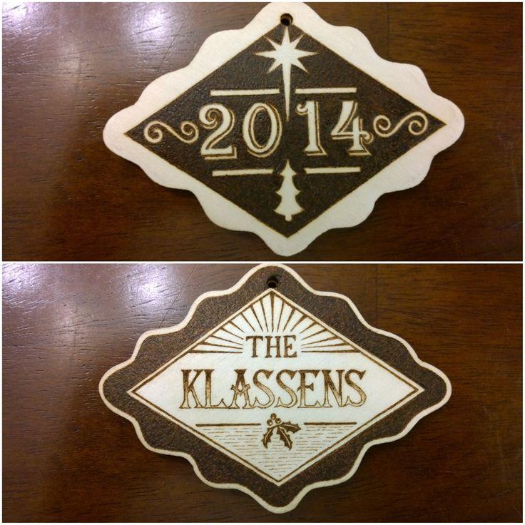 E. Klassen Christmas Ornament pyrography (both sides)