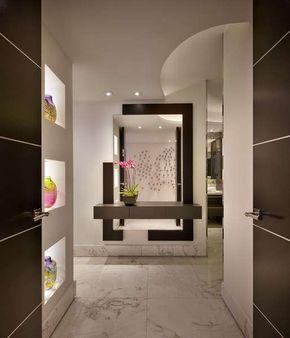 Arredare un ingresso con gli specchi - Arredare l'ingresso con specchio moderno