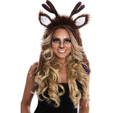 Deer Hoodie Women's Adult Halloween Costume - Walmart.com