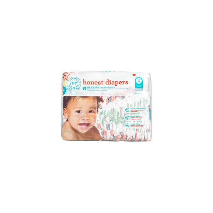 Honest Company Diapers Multi Colored Giraffes - Size 4 (29 ct),