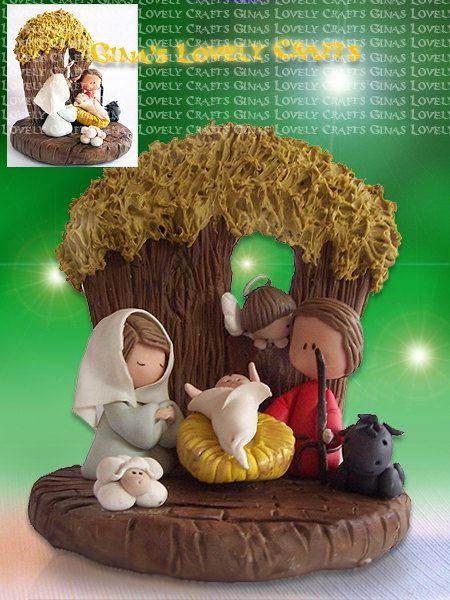NAcimiento monísimo    Handcrafted Christmas Nativity Set by GinaCarrascoHandmade on Etsy