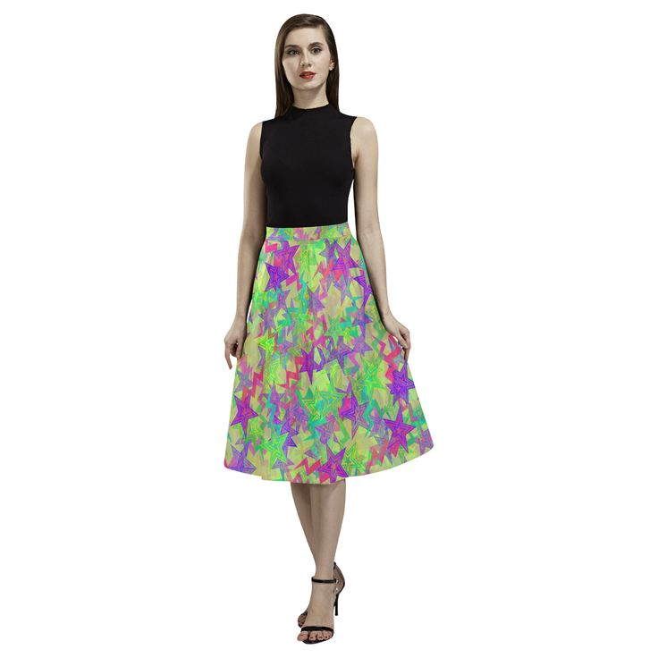 Shooting Stars Aoede Crepe Skirt(Model D16)