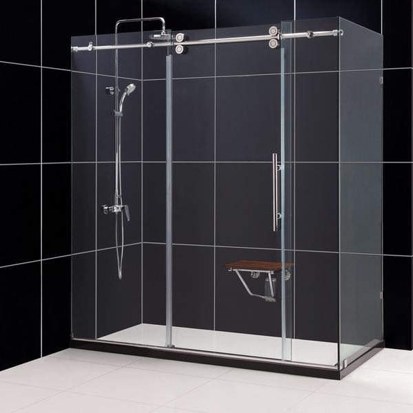 dreamline enigma fully frameless sliding shower enclosure overstock shopping big discounts on dreamline shower doors