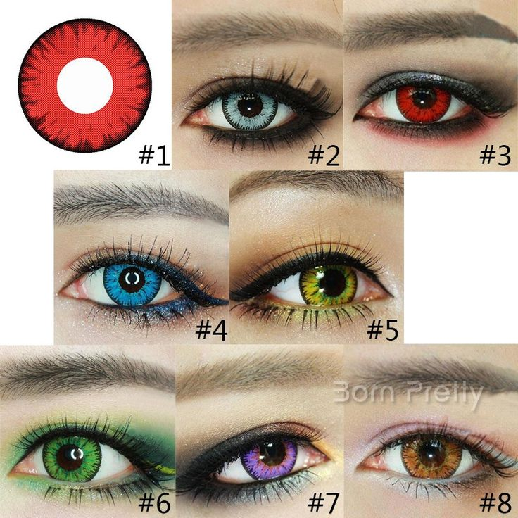 $7.69 1pair Cosmetic Contact Lenses Crystal Lace Color Blue DIA 17.5mm - BornPrettyStore.com