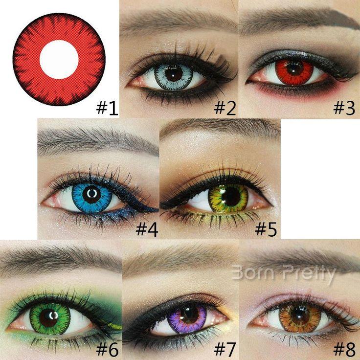 $7.69 1pair Cosmetic Contact Lenses Crystal Lace Color Blue DIA 17.5mm - BornPrettyStore.com