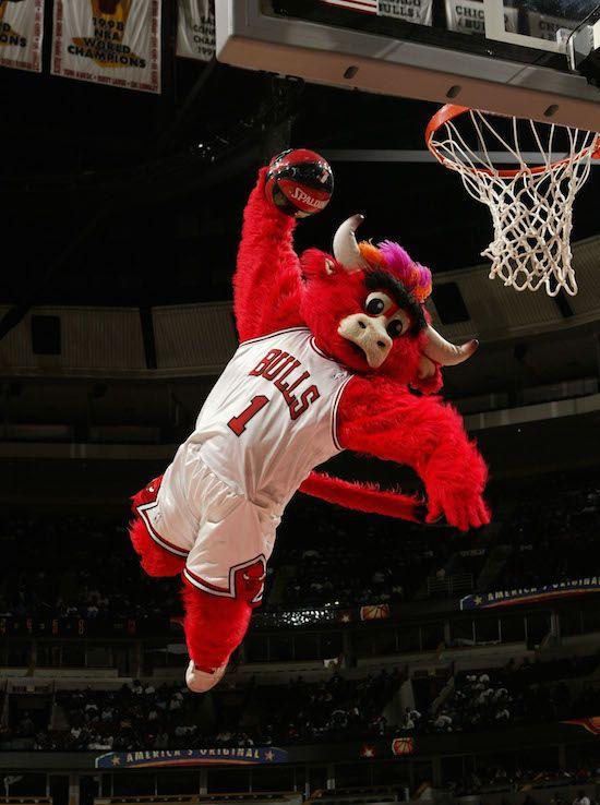 Benny The Bull #Bennythebull #ChicagoBulls #DerrickRose #NBA