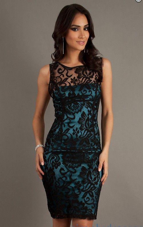 Vestidos de Encaje Cortos , Para Más Información Ingresa en http//imagenesdevestidosdenovia