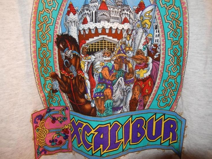VTG Excalibur Casino T-shirt Made by JERZEES in USA Large Castle Casino Vegas #JERZEES #GraphicTee