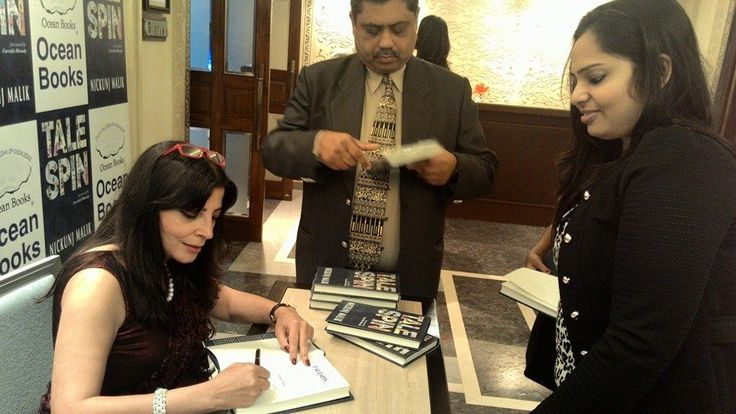 Our M at the book launch of journalist Nickunj Malik's collection of columns 'Talespin' at ITC Maurya, Delhi.   Read her interview here: http://www.writersmelon.com/2015/01/interview-with-journalist-nickunj-malik.html