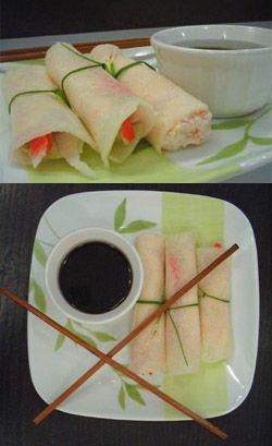 Tacos de Jicama y surimi.  Mmmm...