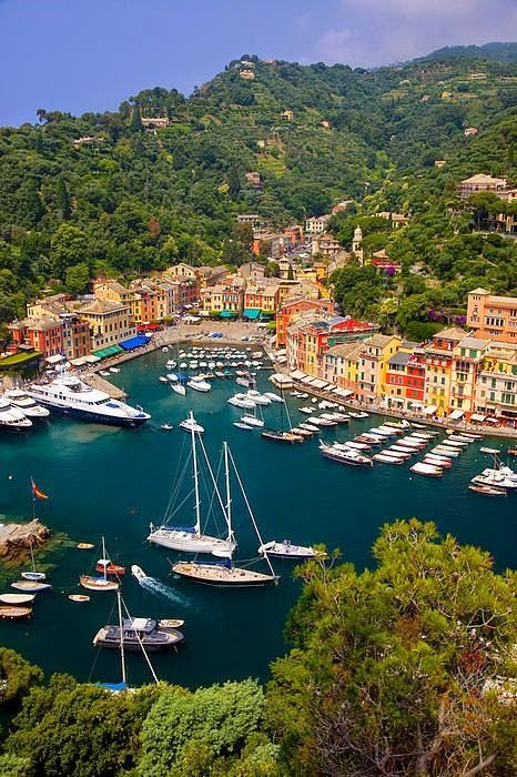 PORTOFINO, Liguria in northern Italy! After leaving Milan, head to Genoa – Liguria's capital.  Explore the Ancient Port of Genoa on a walking tour and then visit Portofino, one of Italy's most photographed villages.  It is also a good base to stay at when touring the Cinque Terre.
