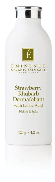 Eminence Strawberry Rhubarb Dermafoliant, i mix with any cleanser and its amazing! my skin is super silky!!