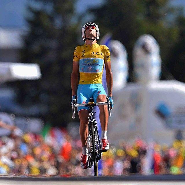 @letourdefrance @letour #stage13 @vincenzonibali #arrival #winner #cycling #tdf2014