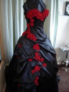 Amity Originals: Halloween Wedding. To match the Skull wedding cake, maybe this dress.