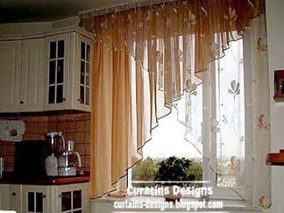 Modern curtain designs ideas for kitchen windows 2014