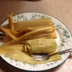 Tamales de pollo en salsa verde (mi favorito)