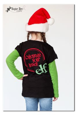 Sugar Bee Crafts: sewing, recipes, crafts, photo tips, and more!: Elf Shirt - Flocked Vinyl