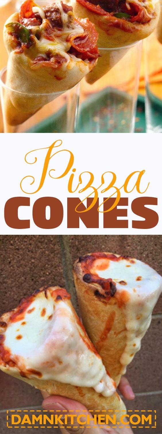 Pizza cones!