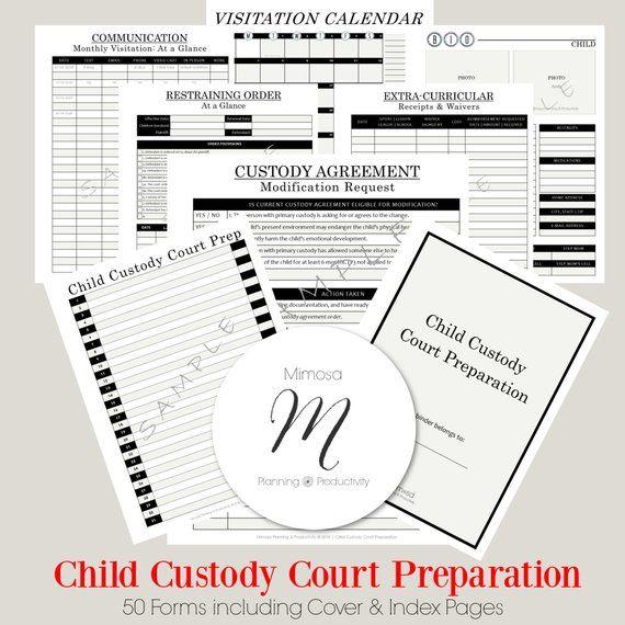 Child Custody Planner Court Planner Co Parenting Single Parent Divorce Printable Pdf Digital Planner Child Custody Custody Co Parenting