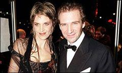 Ralph Fiennes with his sister Martha Fiennes