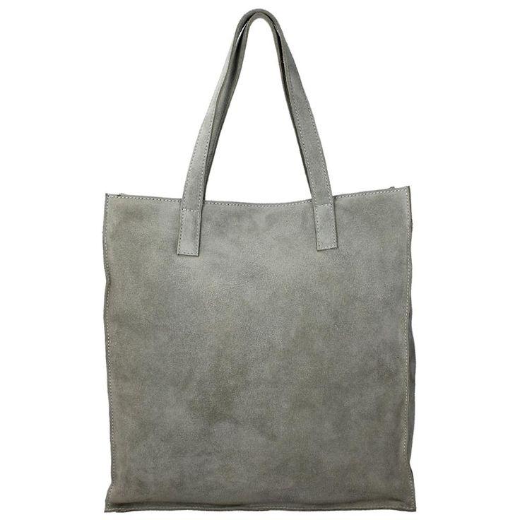 Duifhuizen Leather Collection Shopper grey