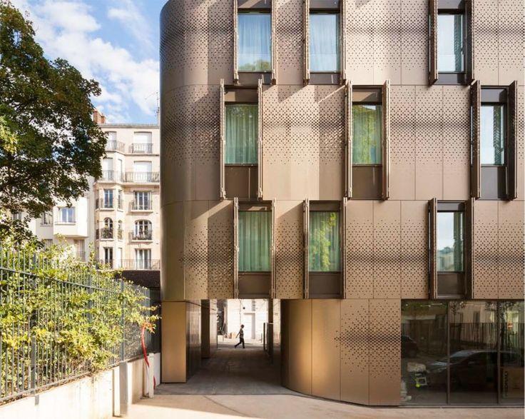 Vib Architecture, green renovation, Paris, student housing, green architecture, courtyard, garden, common spaces, public spaces, nursery, aluminium