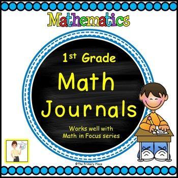 First Grade Math in Focus Math Journals All Year