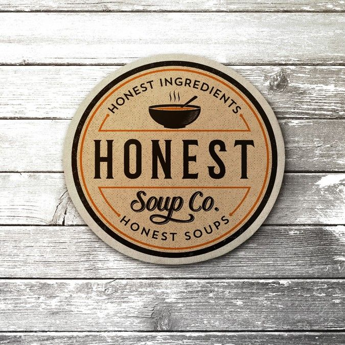 Create a capturing soup label for The Honest Soup Company by Keyshod