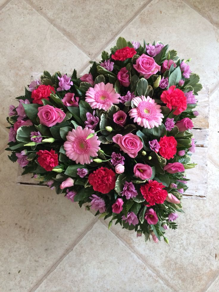Loose heart funeral tribute flowers