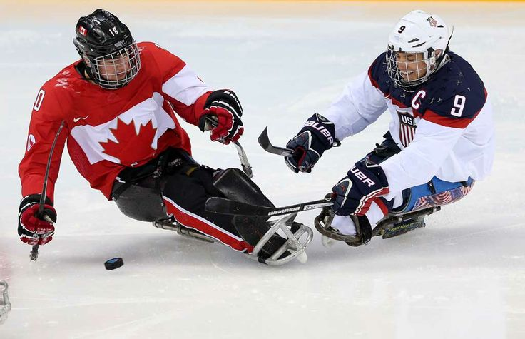#Sochi - Ben Delaney (left) Bronze, Sledge Hockey