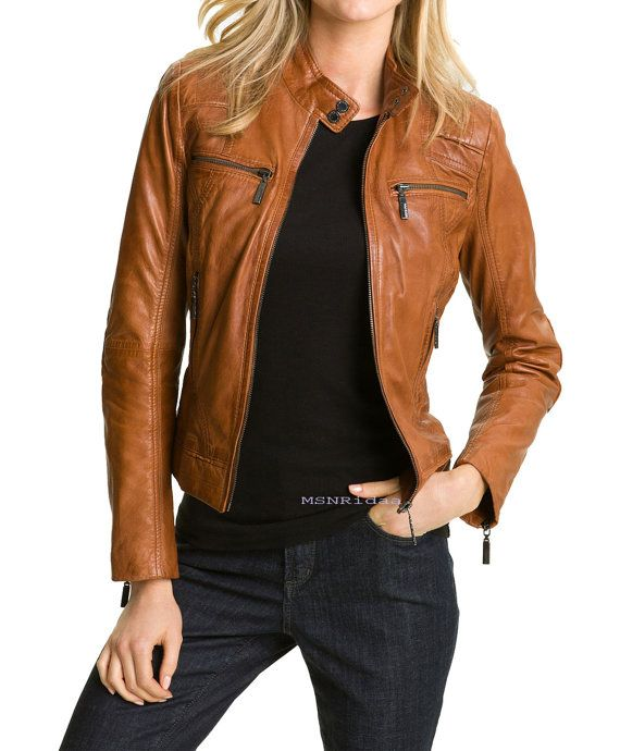 1000  ideas about Womens Brown Leather Jacket on Pinterest