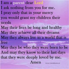 a mothers prayer for adult children - Google Search