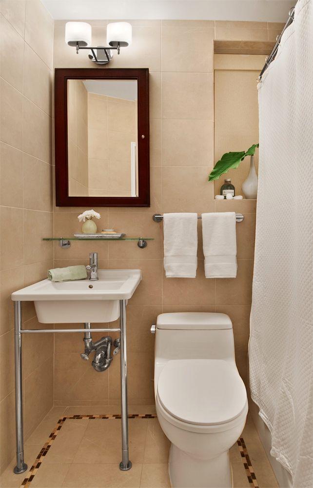 Bathroom, Cozy Affordable  Small Bath  Makeover: Affordable Small Bath Makeover