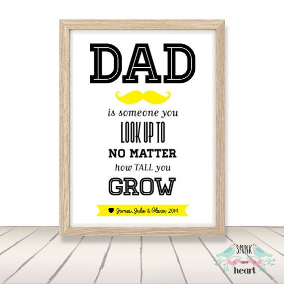 Dad Father Grandfather Pop Print Wall Art by spunkandheart on Etsy, $20.00 #dad #father #fathersday #grandfather #pop #wallart #spunkandheart #customart