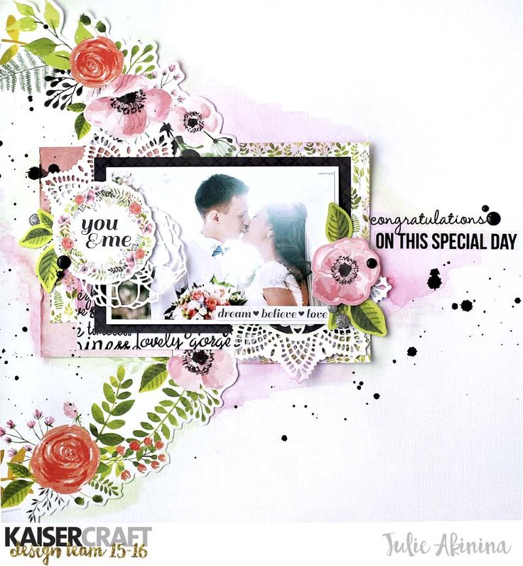 Hello Kaisercrafters! Julia is here to show you new projects using 2 gorgeous January collections. I apreciate them both, so I created 3 layouts and one big Wedding album!This collection #ME from K...
