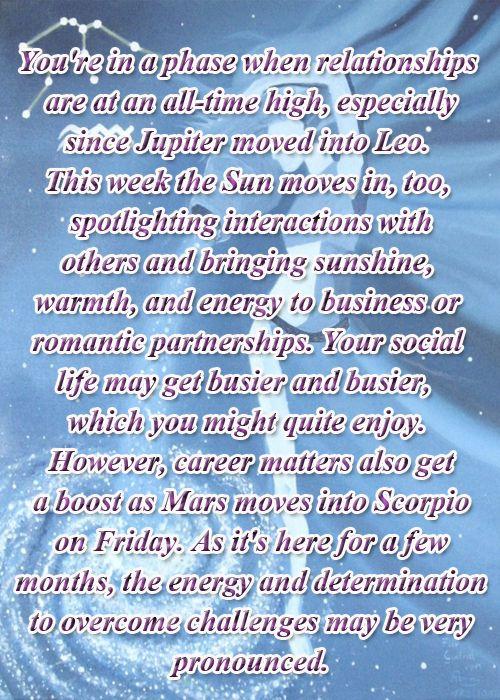JULY 21, 2014 - JULY 27, 2014 #Aquarius Horoscope